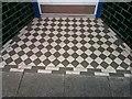 SH7882 : A tiled shop doorway on Vaughan Street, Llandudno by Meirion
