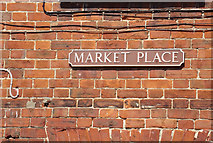 TG1022 : Market Place sign by Geographer