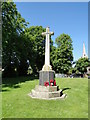 TM0688 : Banham War Memorial on The Green by Adrian S Pye