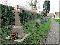TG1508 : Bawburgh War Memorial beside the church path by Adrian S Pye