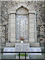 TM1180 : Diss War Memorial at St Mary's church by Adrian S Pye