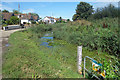 TQ8813 : Gauge Board at the end of the Canal by Des Blenkinsopp