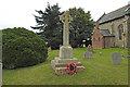 TG3800 : Hardley WW1 War Memorial in the churchyard by Adrian S Pye