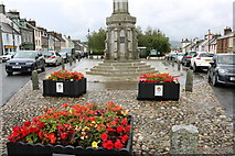 NX4355 : Flower Planters at Wigtown by Billy McCrorie