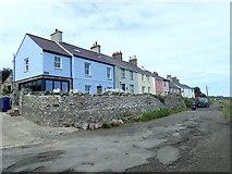 SH3568 : Colourful terrace, Aberffraw by Eirian Evans