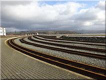 SH5738 : Ffestiniog railway, Porthmadog by michael ely