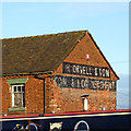 SJ6735 : Wall sign at Orwell's Boatyard near Market Drayton by Roger  Kidd