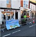 SO3700 : Blue banner, Bridge Street, Usk by Jaggery