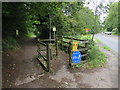 ST4255 : Strawberry Line path near Axbridge by Malc McDonald
