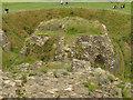 SE3318 : Sandal Castle: barbican by Stephen Craven