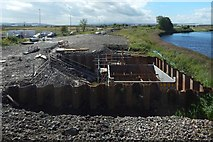 NS4967 : The beginnings of a new bridge by Lairich Rig