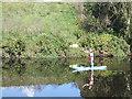 SE3420 : Paddler on the river Calder by Stephen Craven