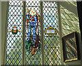 TM2397 : Memorial window at Saxlingham Nethergate by Adrian S Pye