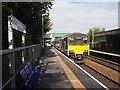SJ9291 : Class 150 DMU leaving Bredbury railway station by Graham Hogg