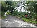 SO3532 : Road junction near Fair Oak Farm, Bacton by Oliver Dixon