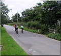 SO3710 : Sunday cyclists, Llanarth, Monmouthshire by Jaggery