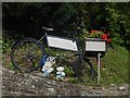 SO4024 : Advertising bike at Grosmont by Oliver Dixon