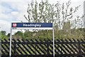 SE2635 : Headingley Station sign by N Chadwick