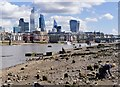TQ3180 : London : Thames Foreshore, Bankside by Julian Osley