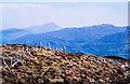 SH6147 : Fence crossing summit of Moel y Dyniewyd by Trevor Littlewood
