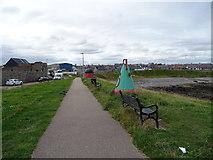 NJ9967 : Coastal path, Broadsea Shore, Fraserburgh by JThomas