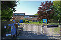 SU5123 : Entrance to Owslebury Primary School by Barry Shimmon