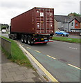 ST3091 : Triton container in transit, Malpas Road, Newport by Jaggery