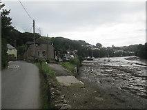 SX5548 : Stoke  Road  toward  Noss  Mayo  from  Bridgend by Martin Dawes