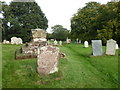 SO8064 : Remains of a cross in the church yard at Shrawley by Chris Allen