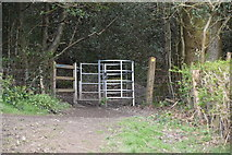 TQ5643 : Kissing gate, The Wealdway by N Chadwick