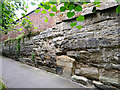 SP2865 : A wall that could tell a story, St Mary's Churchyard, Warwick by Robin Stott