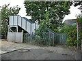 SE1842 : Ings Crescent railway footbridge by Stephen Craven