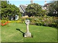 NX6851 : Sundial in Broughton House Garden by Oliver Dixon