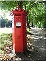 SO9321 : Hexagonal Post Box in Lansdown Road, Cheltenham by David Hillas
