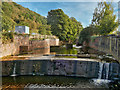 SD9726 : Small Weir on the River Calder at Charlestown by David Dixon