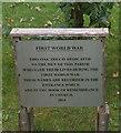 NZ3821 : War memorial tree, St Cuthbert's Church, Redmarshall by Ian S