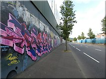 J3274 : Peace Wall on Cupar Way by Gerald England