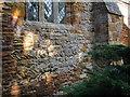 SP6160 : Herringbone masonry, south wall, St. Mary's church Dodford by Jonathan Thacker