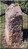 TG0934 : Old Milestone (south face) by the B1149, Norwich Road, Edgefield by CW Haines