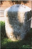 TQ0070 : Old Milestone (south face) by the A30, Egham Hill, Egham by Milestone Society