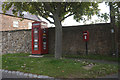 SE3860 : Telephone kiosk and postbox on Moor lane, Arkendale by Ian S