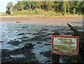 SX8972 : Muddy notice about mud by Derek Harper