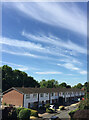 SP2965 : Mercia Way, Warwick, with cirrus clouds by Robin Stott