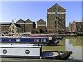 SO8218 : Narrowboats on the Victoria Basin by Steve Daniels