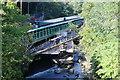 ST2198 : New railway bridge, River Ebbw, Crumlin by M J Roscoe