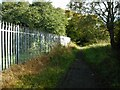 NS6567 : Path beside the playing fields by Richard Sutcliffe