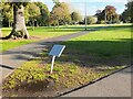 NT2540 : Rediscovered sign, Victoria Park Peebles by Jim Barton
