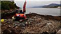 NN0263 : Low tide work by Mick Garratt