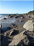 NX0986 : Beach Boulders by Anne Burgess