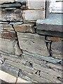 NY2423 : Benchmark Farmer's Arms, Portinscale by OfficeOfPudseyBMs